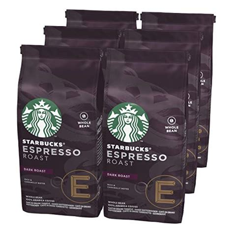 We won't make a mistake or exaggerate if we say that this is the most unique coffee blend from starbucks. STARBUCKS Espresso Roast Dark Roast Whole Bean Coffee, 200 g (Pack of 6)