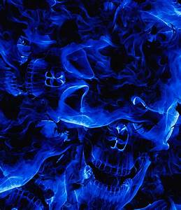 Blue Flaming Skull (100cm) - PA Hydrographics ...