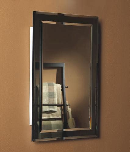 jensen 16 quot wide mirror on mirror recessed medicine cabinet