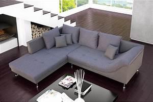 Canape d39angle design palma cuir pu et tissu chloe design for Canape d angle tissu et cuir