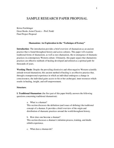 Sample Of Research Proposal Example Essay On Florida Sample Research