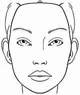 Face Blank Makeup Coloring Sketch Chart sketch template