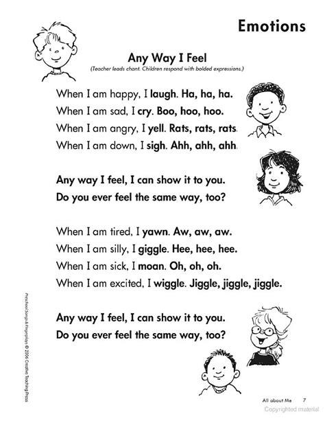 finger songs for preschool best 25 emotions preschool ideas on 933