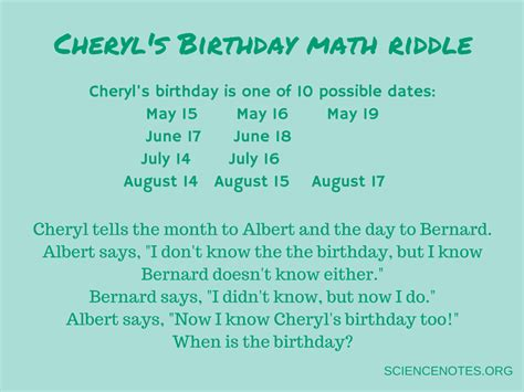 birthday riddle cool math tricks to amaze your friends
