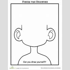 Finish The Drawing Can You Draw Yourself?  School Ideas  Art Worksheets, Drawing Activities