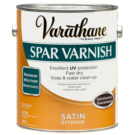 varathane 1 gal clear satin water based exterior spar