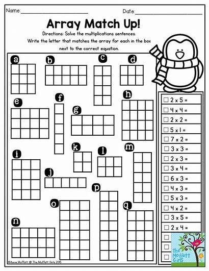 Multiplication Array Worksheets Teaching Math Grade Sentences