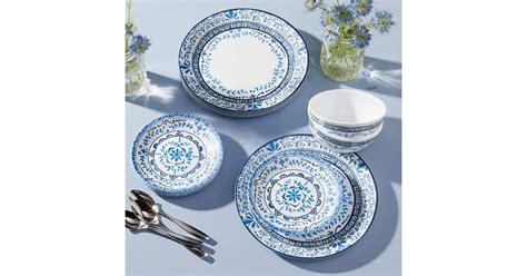 corelle dinnerware portofino piece sets amazon australia popsugar strip table
