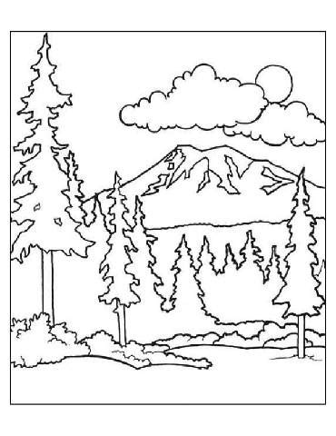 forest coloring pages preschool forest coloring pages