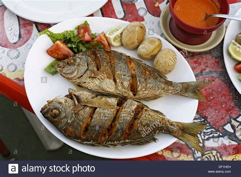 kitchen cart island typical fish dishes black bream with papas arrugadas