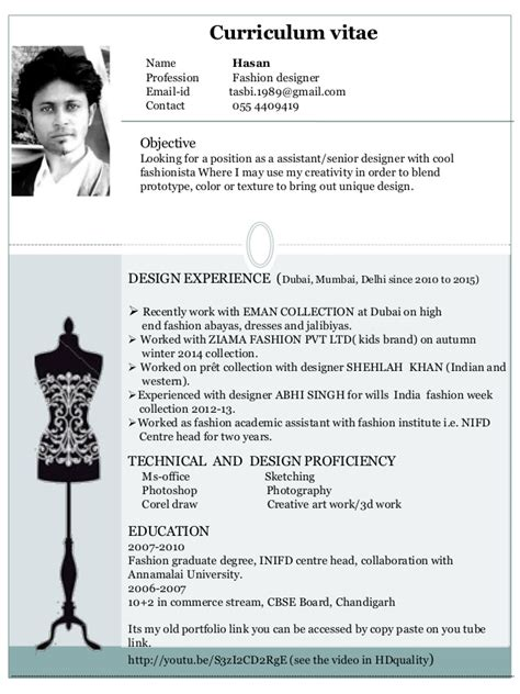 creative fashion cv search cv
