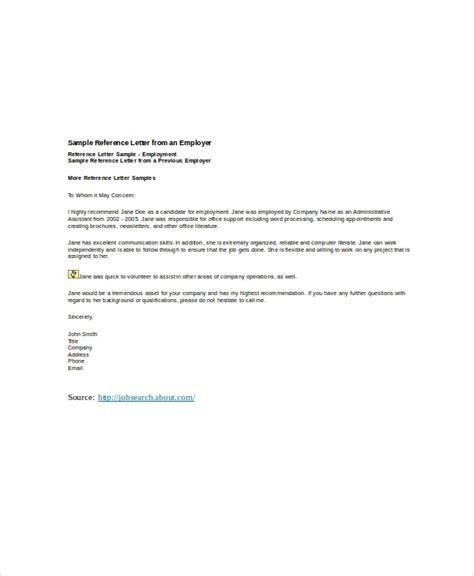 sample employer recommendation letter  sample