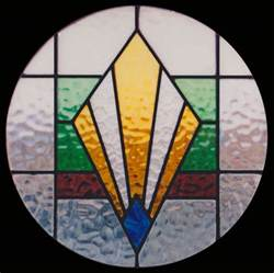 1940s bathroom design deco stained glass scottish stained glass