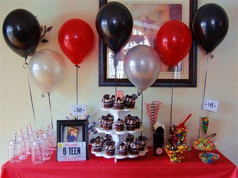 sixteenth birthday   guy sweet sixteen party ideas