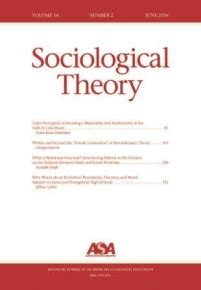 Sociological Theory | American Sociological Association