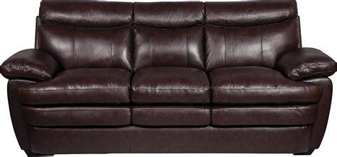 Original Leather Sofa Marty Genuine Leather Sofa Brown The Brick