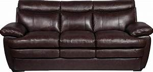 marty genuine leather sofa brown the brick With leather sectional sofa the brick
