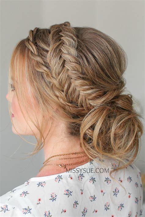 twist braid dutch fishtail updo hair tutorial viva