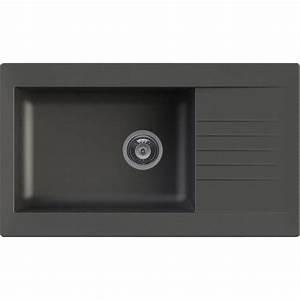 Evier Noir 1 Bac : evier encastrer r sine noir karta 1 grand bac avec ~ Dailycaller-alerts.com Idées de Décoration