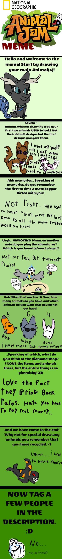 Animal Jam Memes - animal jam meme by roseyicywolf on deviantart