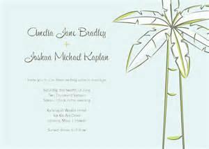 palm tree wedding invitations template best template With free wedding invitation templates tree