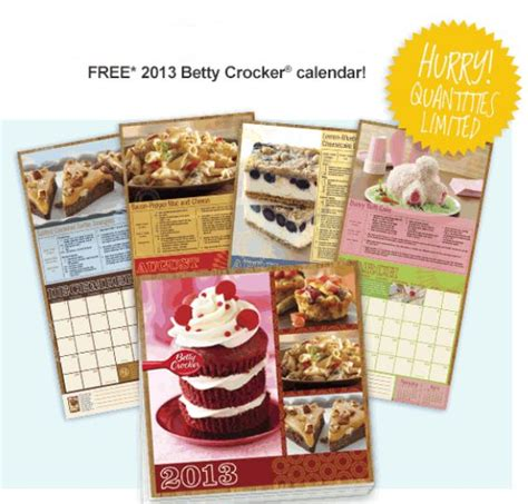 recipe daily sweepstakes calendar free betty crocker recipe calendar who said nothing in is free