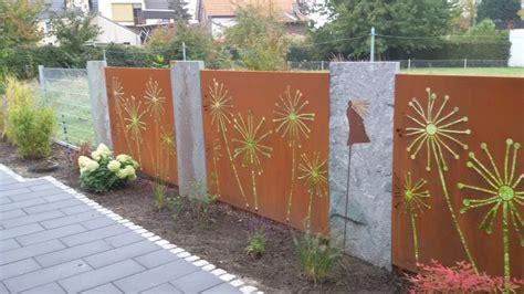 Sichtschutz Aus Metall by Sichtschutz Garten Metall Ordentlich Auf ร ว