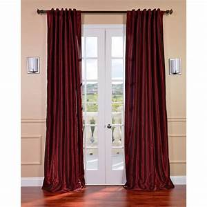 Exclusive fabrics ruby vintage 120 inch faux textured for Silk curtains texture