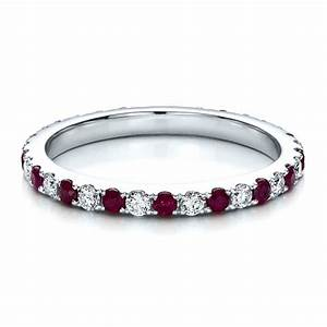 Ruby Band With Matching Engagement Ring 100002 Seattle