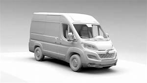 Citroen Relay Van L1h2 2017 3d Model