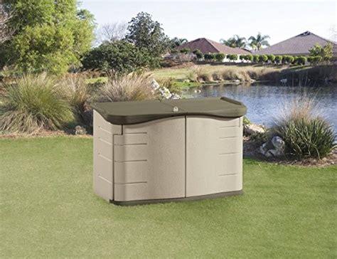 rubbermaid horizontal storage shed 18 cu ft rubbermaid outdoor split lid storage shed 18 cu ft