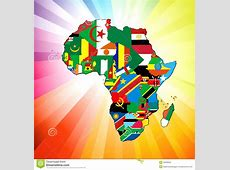 African Continent Flag Map Stock Images Image 23036564