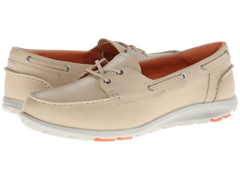 rockport boat shoes womens rockport twz ii boat shoe bleached sand shoes shipped