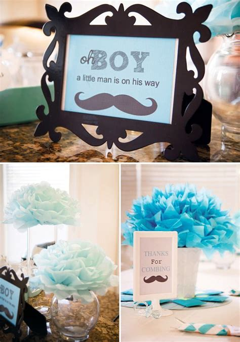 ideas  mustache baby showers  pinterest