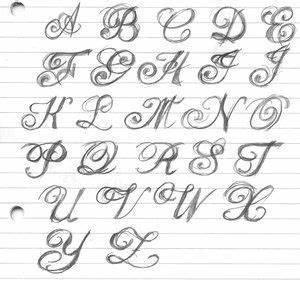 Schne Schnrkel Buchstaben Gezeichnet Handwriting