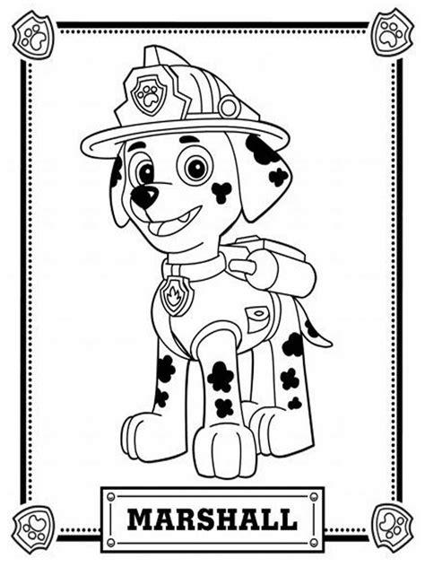 dibujos de la patrulla canina  colorear paw patrol