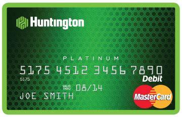 debit card partnership  huntington bank mastercard