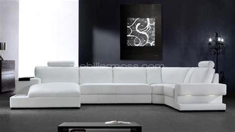 canapé blanc en cuir photos canapé angle cuir blanc