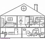 Coloring Rooms sketch template