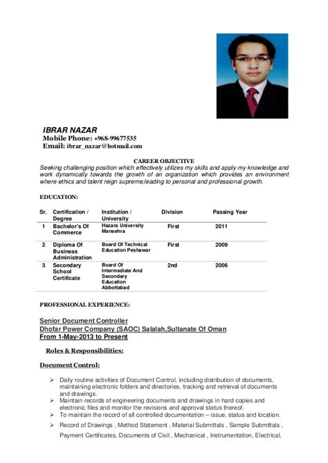 need in oman ibrar nazar resume