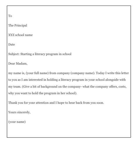 write  permission letter  principal top form