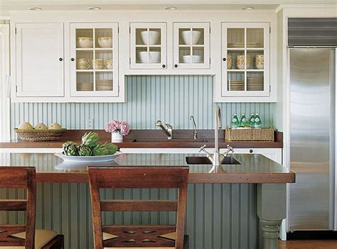 Colored Beadboard : Painted Beadboard Backsplash. Different Color