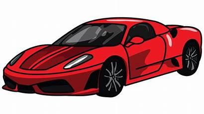 Drawing Ferrari Cars Sports Sport Outline Clipart