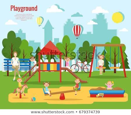infographics people  activities park rest stock