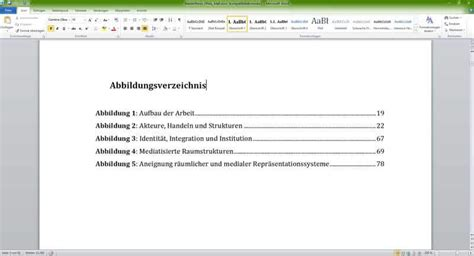 abbildungsverzeichnis  word erstellen video tutorial