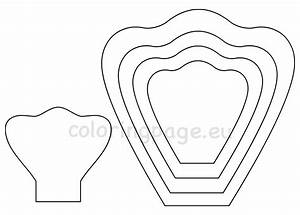 Giant Petal Paper Flower Rose Template – Coloring Page