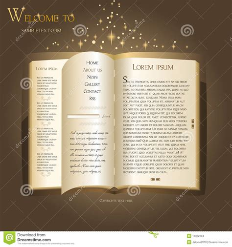 website design fairytale book stock images image