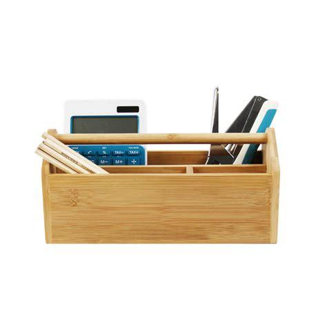 organisateur de bureau organisateur de bureau en bambou portable