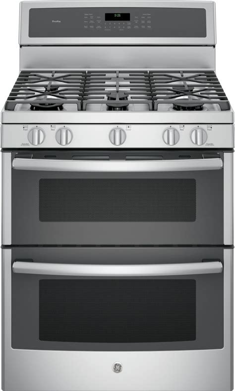 pgbzejss ge profile  freestanding double oven gas range stainless steel convection
