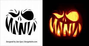 10, Free, Scary, Halloween, Pumpkin, Carving, Patterns, Stencils, U0026, Ideas, 2015